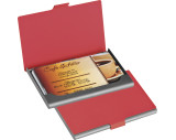 Rubberized business card holder